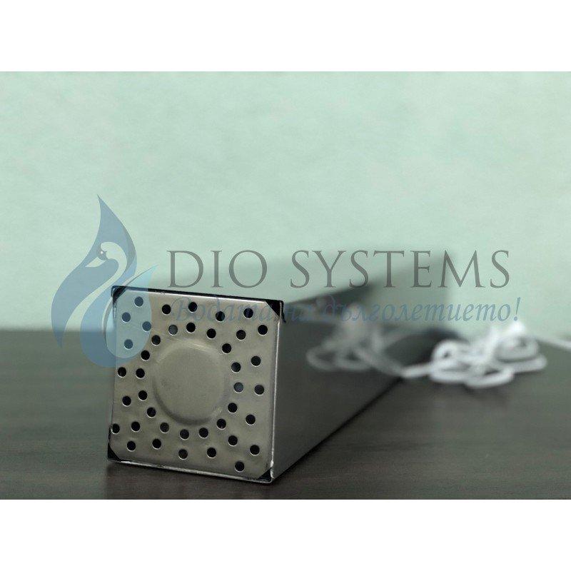 Бактерициден UVC стерилизатор, от неръждаема стомана, 75кв.м, за постоянна работа в присъствие на хора