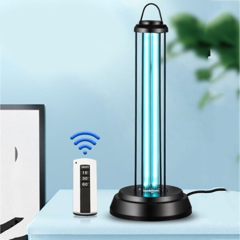 Метална Бактерицидна UVC лампа Biogenis, 60w, 90 кв.м. Вграден таймер